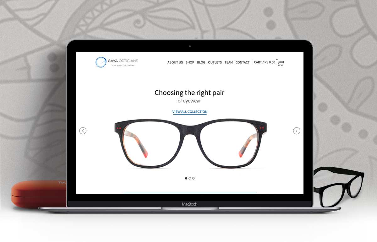Gaya Opticians – E-commerce – UI Design