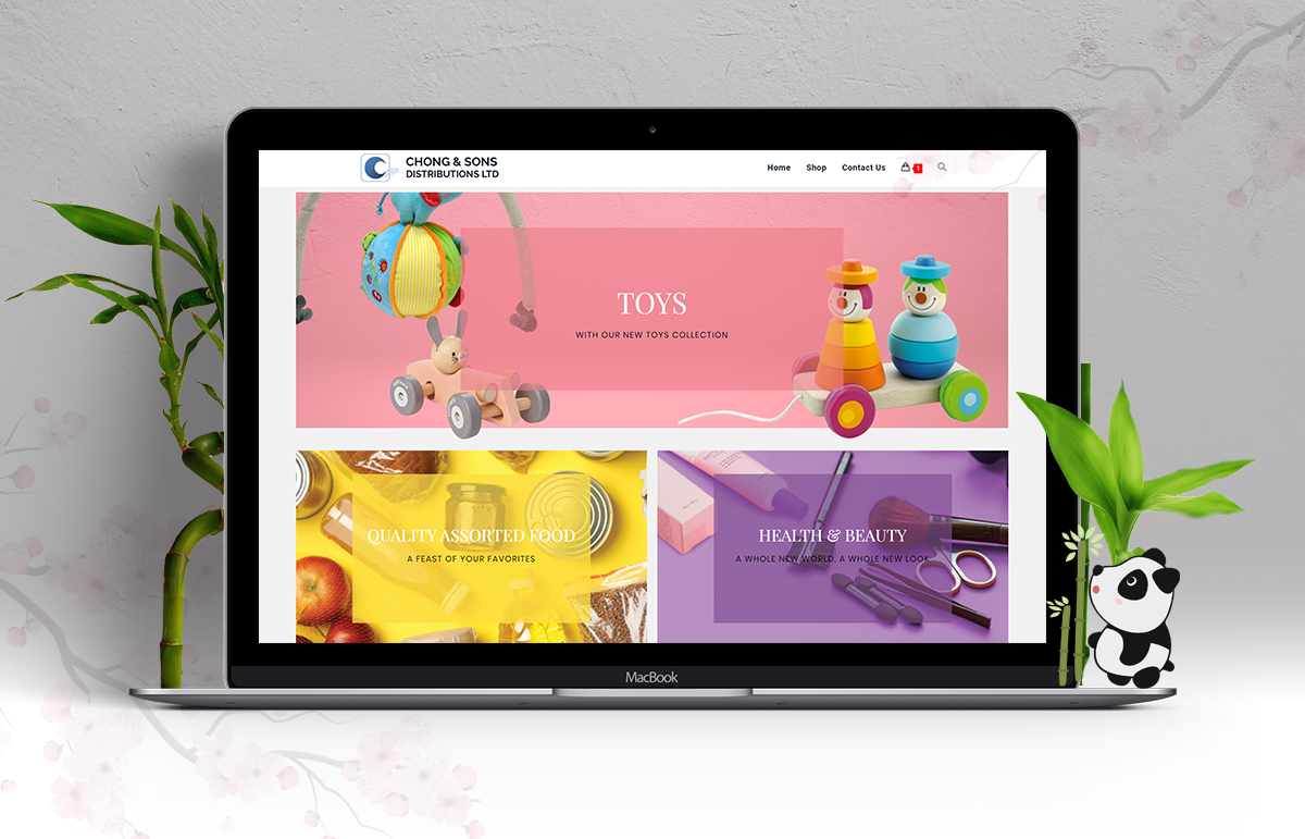 Chong & Sons – E-commerce