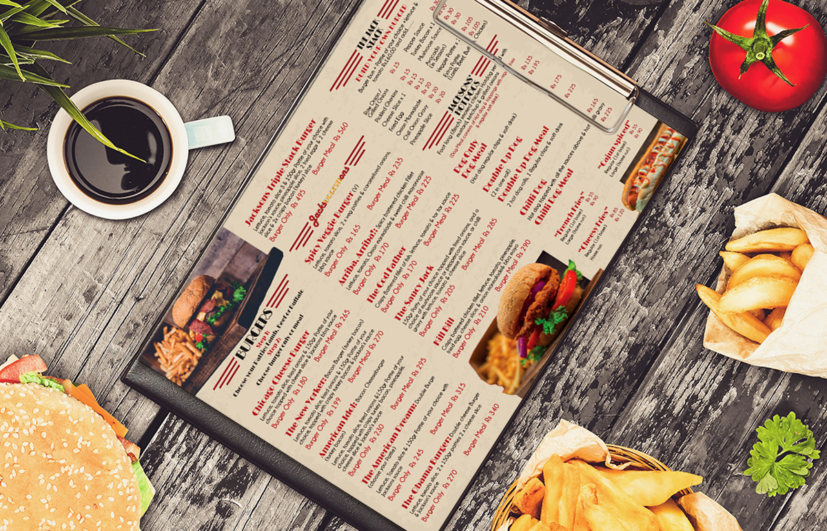 Jackson's American Burger-Corporate ID & Marketing