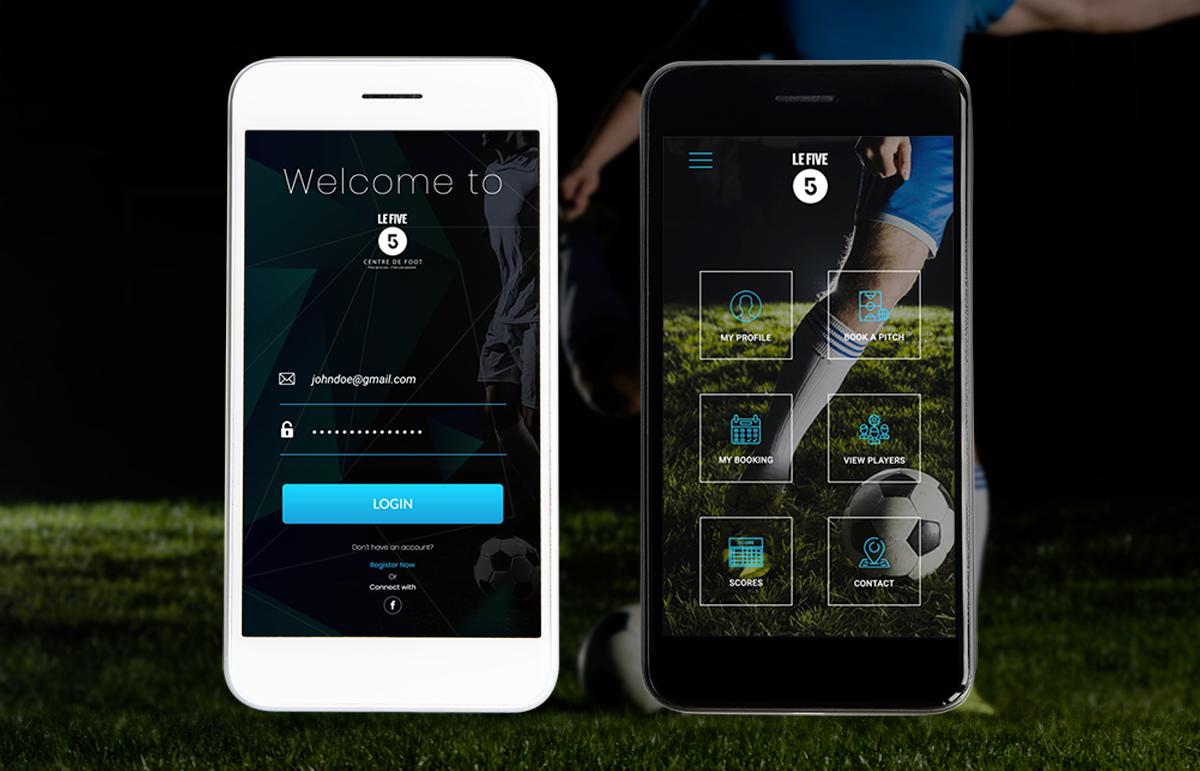 Mobile App: Le Five Centre de Foot