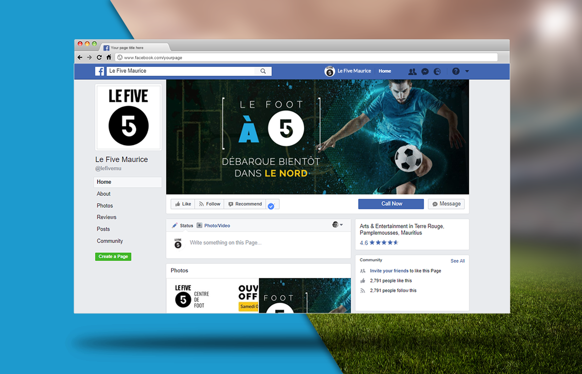 Le Five-Centre De Foot-Communication