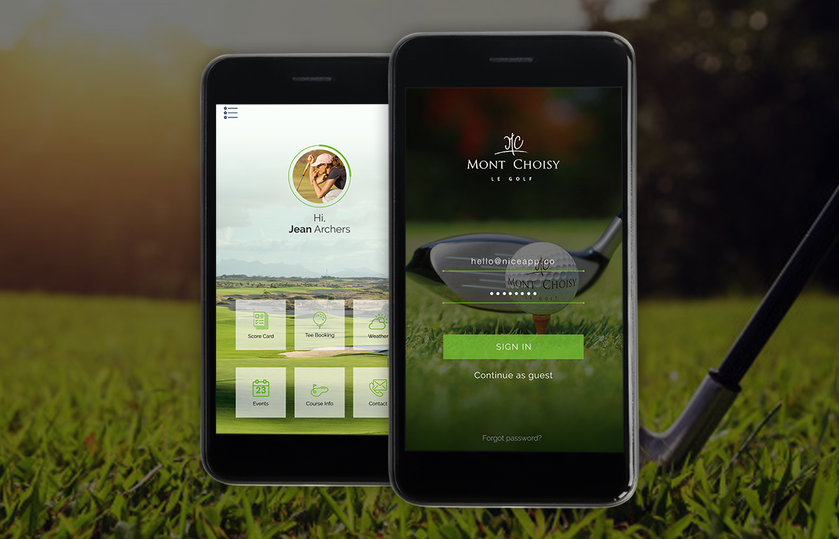 Mobile App: Mont Choisy Golf – UI Design